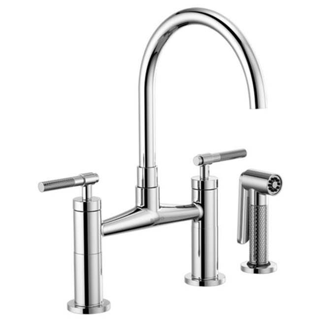 Brizo 62543lf Pc Litze Bridge Faucet With Arc Spout And Knurled Handle
